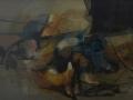 Figura sdraiata - 1995 - 95.5x60 - Ezio Barni